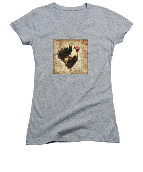 Vintage Rooster Women's V-Neck