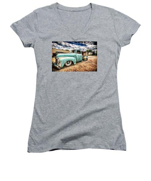 Vintage Truck  Women's V-Neck