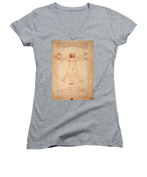 Vitruvian Man Women's V-Neck