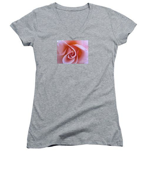 Vivacious Pink Rose Women's V-Neck (Athletic Fit)