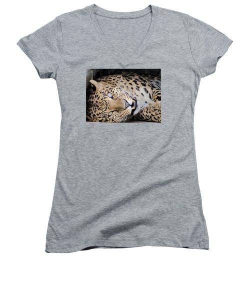 Voodoo The Leopard Women's V-Neck