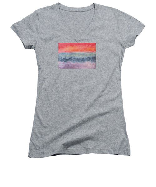 Women's V-Neck T-Shirt (Junior Cut) featuring the photograph Voyage by Susan  Dimitrakopoulos