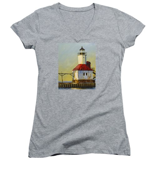 Waiting For The Sunset Women's V-Neck