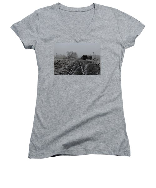 Waiting On The Side Women's V-Neck T-Shirt (Junior Cut)