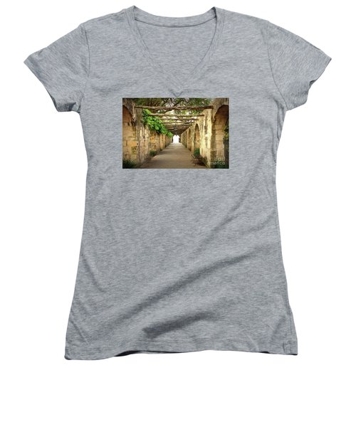 Walk To The Light Women's V-Neck (Athletic Fit)
