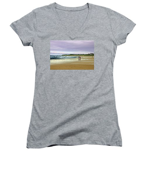Walking The Dog After A Storm Women's V-Neck