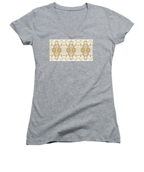 Wall Of Orchids Panorama Women's V-Neck T-Shirt (Junior Cut) by Paul Ashby