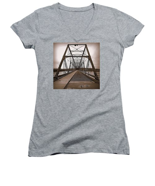 Walnut Street Bridge Women's V-Neck (Athletic Fit)