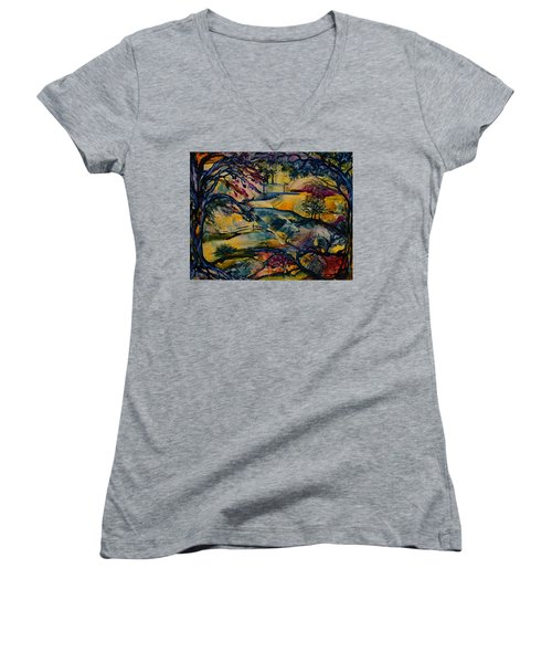Wandering Woods Women's V-Neck (Athletic Fit)