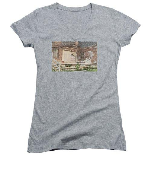 Warehouse Dock Women's V-Neck T-Shirt