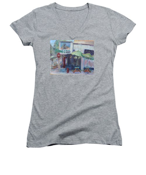 Warm Afternoon In The City  Women's V-Neck