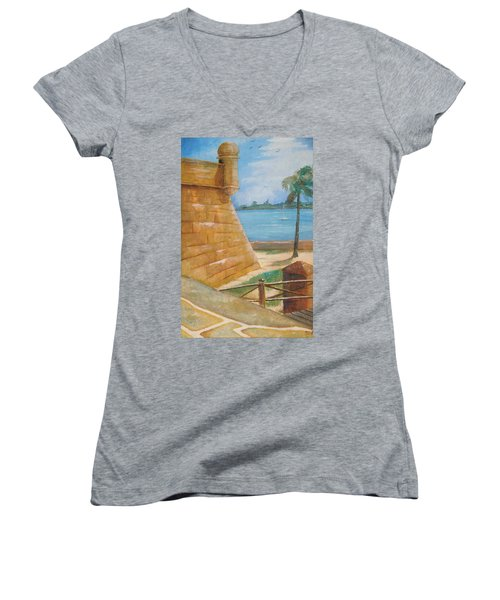 Warm Days In St. Augustine Women's V-Neck