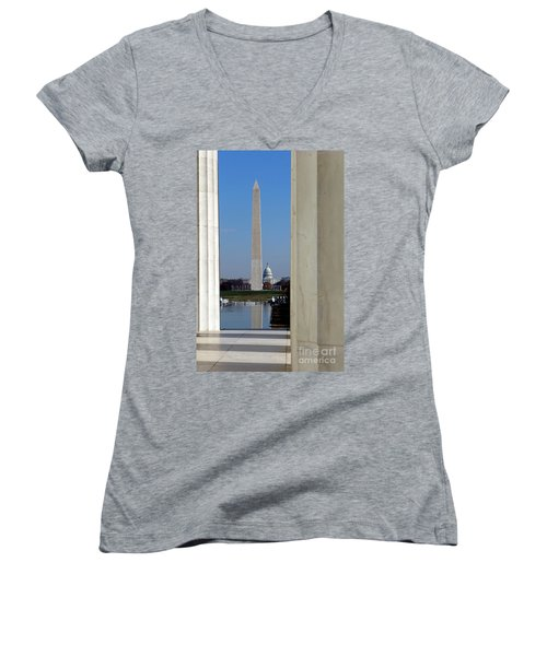 Washington Landmarks Women's V-Neck (Athletic Fit)