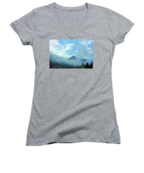 Washington State Women's V-Neck T-Shirt (Junior Cut) by Kristin Elmquist