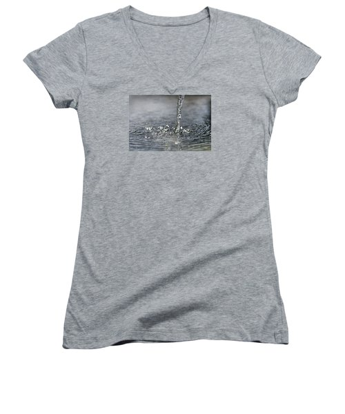 Water Beam Splashing Women's V-Neck (Athletic Fit)