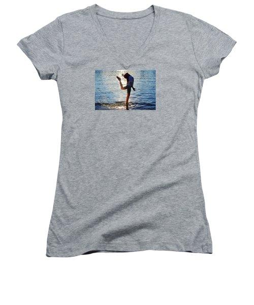 Water Dancer Women's V-Neck T-Shirt