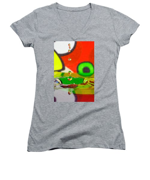 Women's V-Neck T-Shirt (Junior Cut) featuring the photograph Water Dew by Peter Lakomy