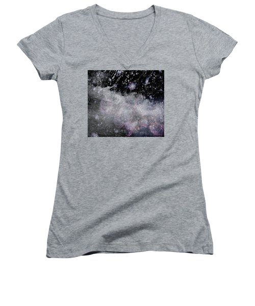 Water Flowing Into Space Women's V-Neck T-Shirt