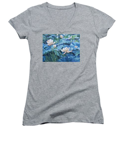 Water Lilies Two Women's V-Neck T-Shirt