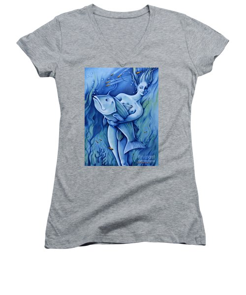 Water Women's V-Neck (Athletic Fit)