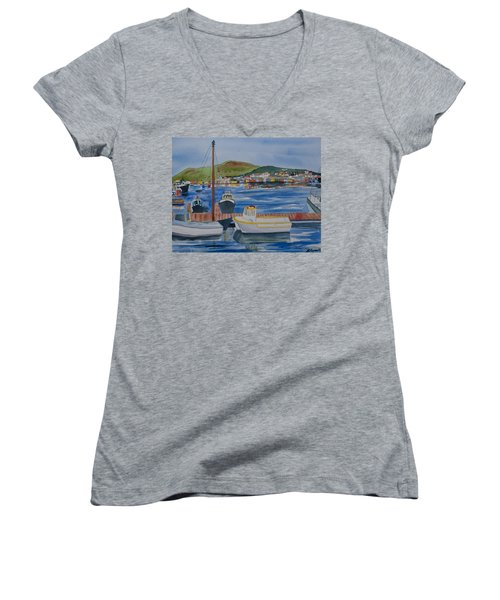 Watercolor - Dingle Ireland Women's V-Neck