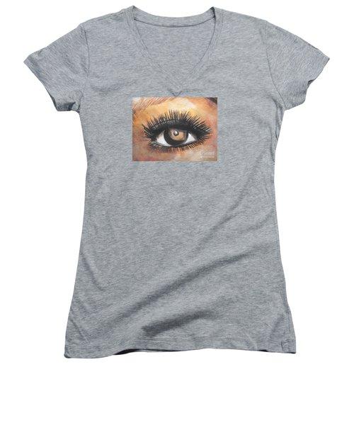 Watercolor Eye Women's V-Neck T-Shirt