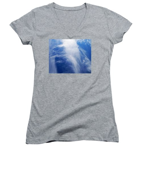 Waterfalls In The Sky Women's V-Neck T-Shirt (Junior Cut) by Belinda Lee