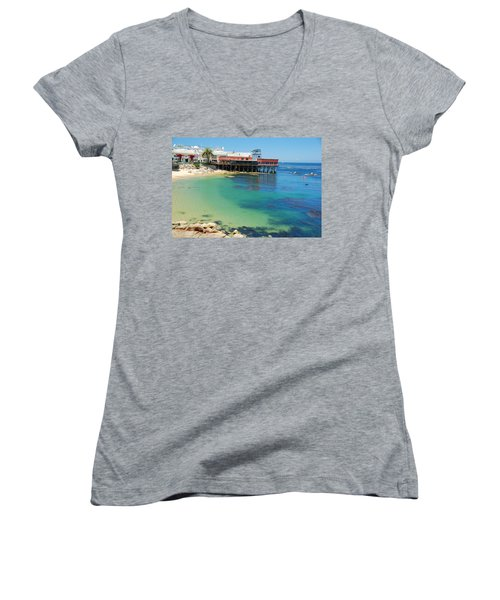 Waterfront At Cannery Row Women's V-Neck (Athletic Fit)