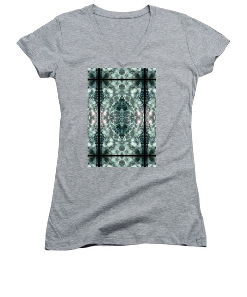 Waters Of Humility Women's V-Neck T-Shirt (Junior Cut) by Deprise Brescia