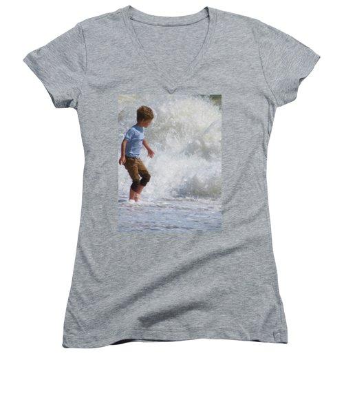 Waves Women's V-Neck