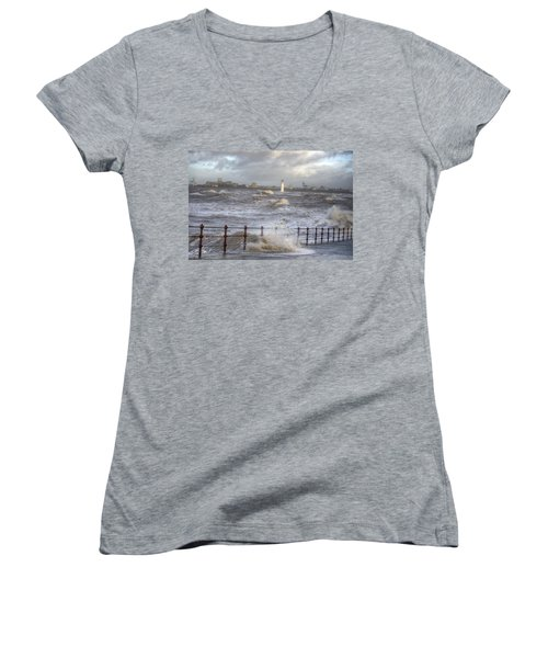 Waves On The Slipway Women's V-Neck T-Shirt