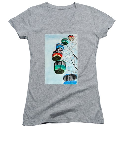 Way Up In The Sky Women's V-Neck T-Shirt