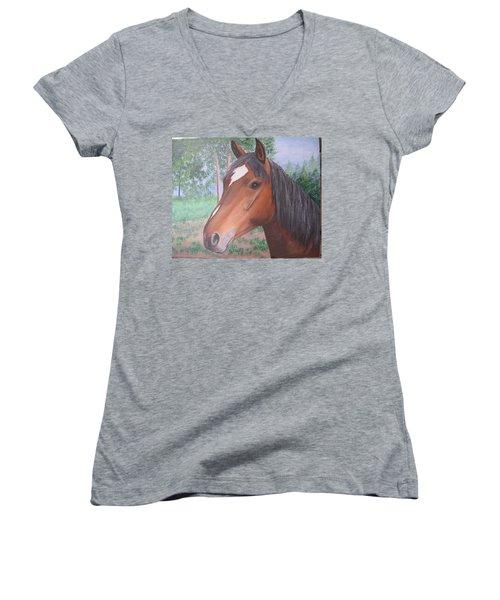 Wayne's Horse Women's V-Neck