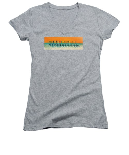We Are All The Same Women's V-Neck T-Shirt (Junior Cut) by Tim Mullaney