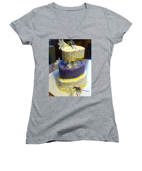 Wedding Cake For May Women's V-Neck T-Shirt