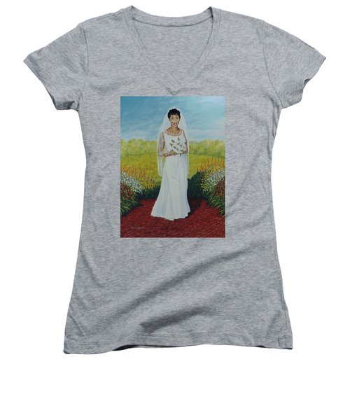 Wedding Day Women's V-Neck (Athletic Fit)