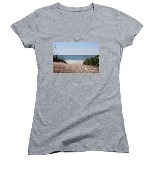 Welcome To The Beach Women's V-Neck