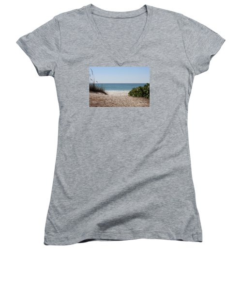 Welcome To The Beach Women's V-Neck T-Shirt