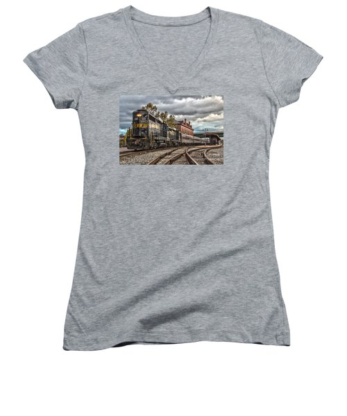Western Maryland Scenic Railroad Women's V-Neck T-Shirt