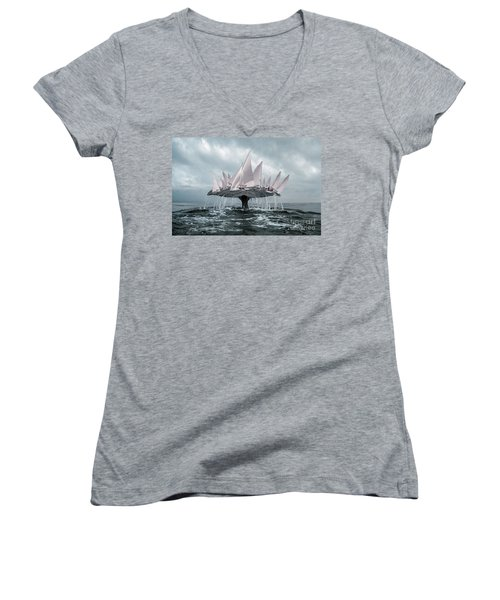 Whale Women's V-Neck (Athletic Fit)