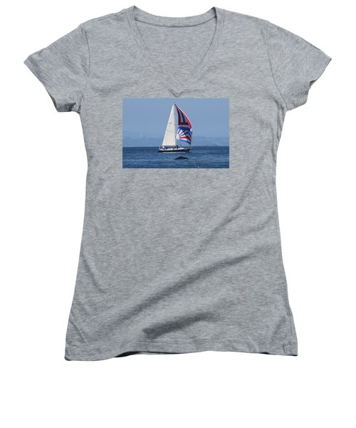 Whale Watching 2  Women's V-Neck