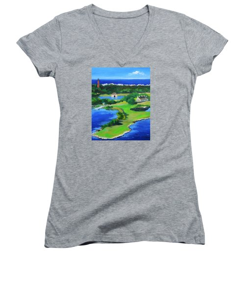 Whalehead Overview Women's V-Neck (Athletic Fit)