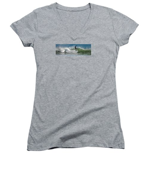 What A Ride Women's V-Neck T-Shirt (Junior Cut) by Sami Martin