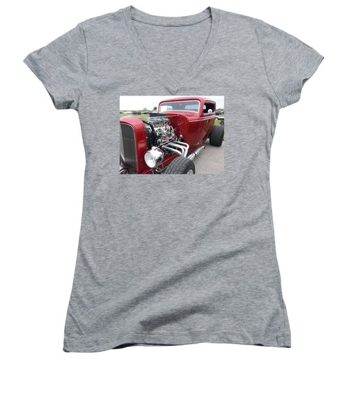 What Pipes Women's V-Neck T-Shirt (Junior Cut) by Caryl J Bohn