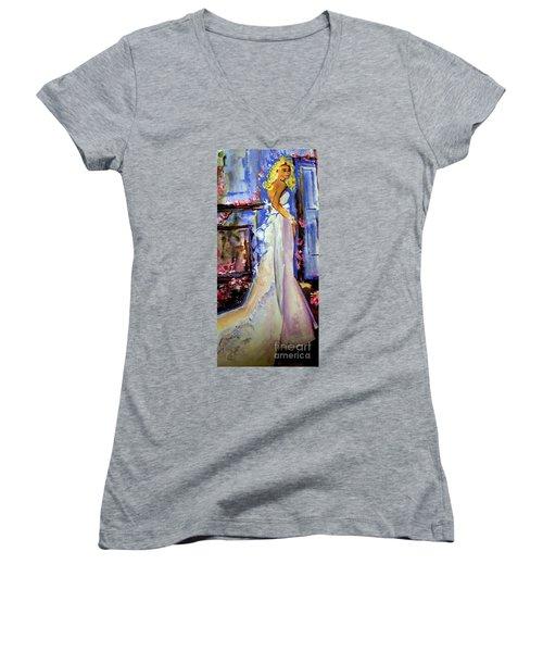 When Lovely Women Women's V-Neck T-Shirt