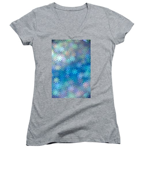 Women's V-Neck T-Shirt (Junior Cut) featuring the photograph Where Have All The Flowers Gone by Dazzle Zazz