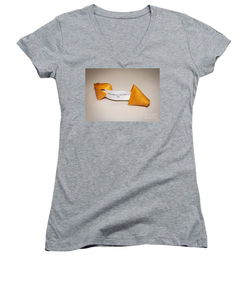 Where There Is A Way Women's V-Neck T-Shirt