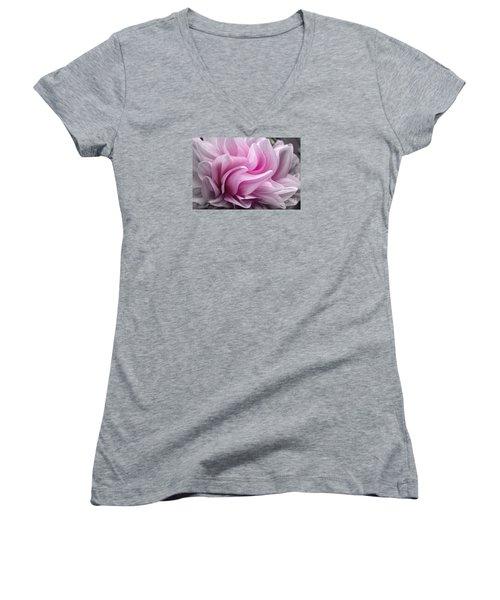 Whimsy Girl Women's V-Neck T-Shirt (Junior Cut) by Jean OKeeffe Macro Abundance Art