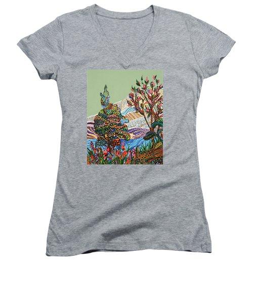 White Hills Women's V-Neck T-Shirt