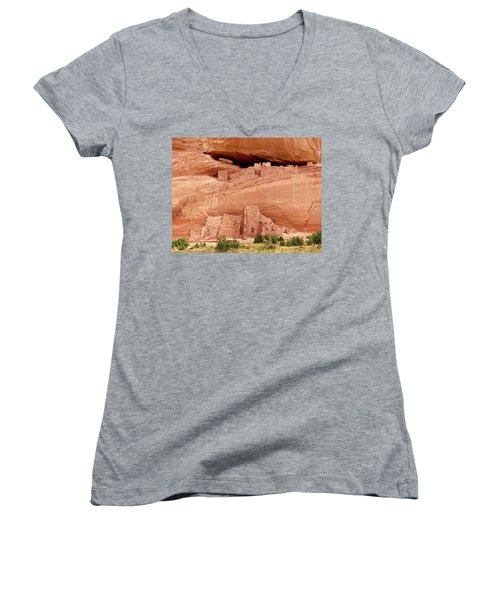 White House Ruins Canyon De Chelly Women's V-Neck (Athletic Fit)